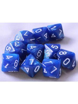 Blå melerade, 10st T10, vita siffror