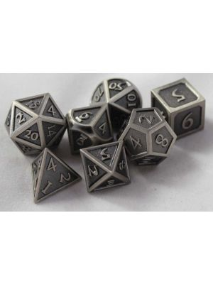 Metal borstad stål med kant, 7tärningar