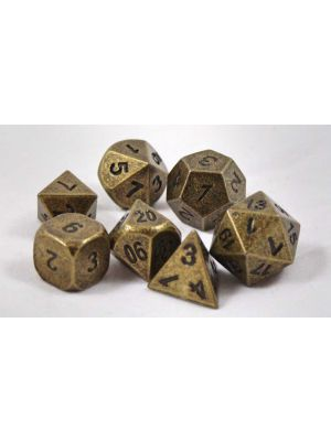Metall Antik Guld, 7 tärningar