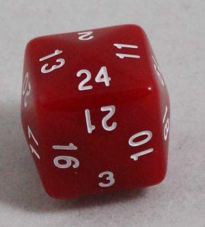 Röd 24 sidig tärning