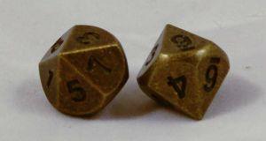 T10 Antik Guld Metall