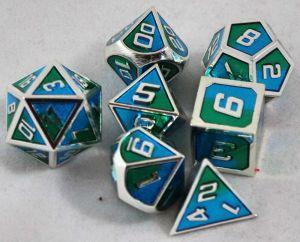 Metal blå/grön med silver kant