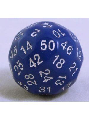 Blå 50 sidig tärning