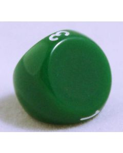 Grön 3 sidig tärning