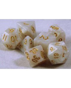 Marmor med guld siffror 7 tärningar