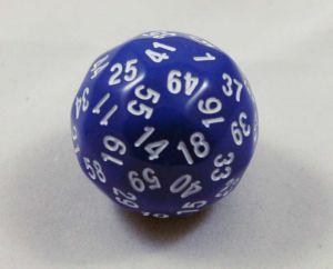 Blå 60 sidig tärning