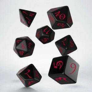 Classic RPG Dice Set Black/Red