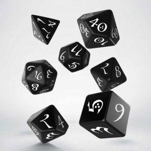 Classic RPG Dice Set Black/White