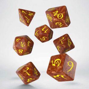 Classic RPG Dice Set Karamel/Yellow