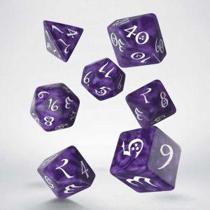 Classic RPG Dice Set Lavender / White