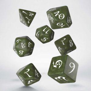 Classic RPG Dice Set Olive / White