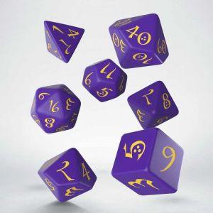 Classic RPG Dice Set Purple / Yellow