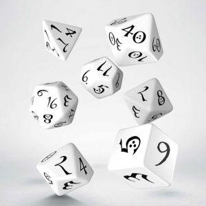 Classic RPG Dice Set White / Black