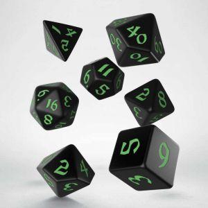 Classic Runic Dice  Set Black / Green
