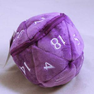 D20 Plush dice bag - lila