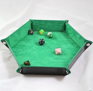 Tärningsbricka Hexagon Ljus Grön