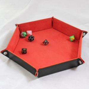 Tärningsbricka Hexagon Ljus Röd
