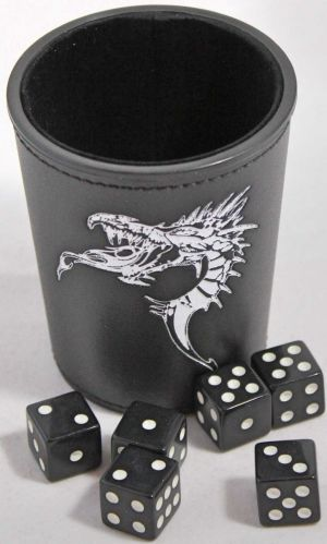 Dice cup med drake