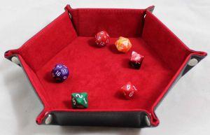 Tärningsbricka Hexagon Röd