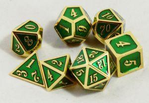 Metal grön med guld kant
