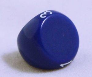 Blå 3 sidig tärning