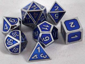 Metal blå med silverkant