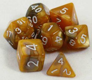 Guld / brun melerad, 7 tärningar