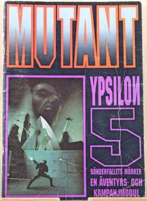 Ypsilon 5 ett äventyr till Mutant. Framsida.